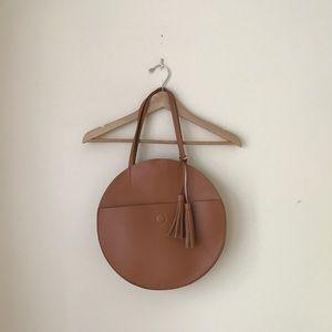 Anthropologie Half Moon Circular Tote Bag